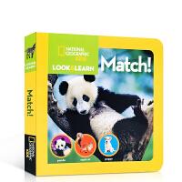 国家地理少儿版系列 Look and Learn: Match! 少儿童英语百科全书 英文原版进口书籍 儿童启蒙英文分