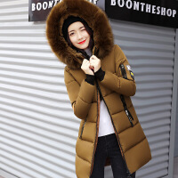 冬装韩版15高中初中学生羽绒服少女中长款厚14-16岁女孩外套