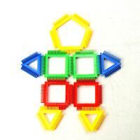 伶俐齿塑料拼插积木 拼装玩具儿童积木3岁以上 150粒大桶装