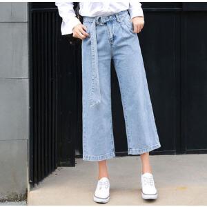 2017新款夏秋季韩版宽松直筒九分牛仔裤女夏学生显瘦阔腿长裤