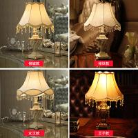 欧式台灯 卧室床头灯 古典复古树脂雕花创意温馨装饰