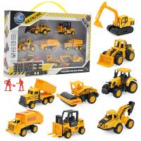 儿童合金工程小汽车模型玩具套装全组男孩子宝宝耐摔滑行迷你 合金工程车(8)款礼盒套装