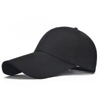 长帽檐棒球帽男士帽子春秋户外运动帽冬天长檐太阳帽鸭舌帽夏