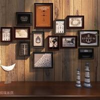 实木照片墙相框墙创意组合相框客厅挂墙相框欧式现代简约相片墙