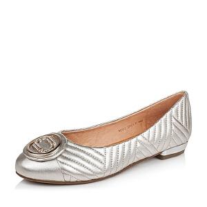 Belle/百丽秋专柜同款羊皮经典复古女单鞋BJN12CQ6