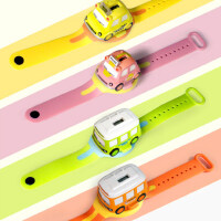 儿童手表玩具车手表巴士迷你合金小汽车模型男孩玩具车1-2-3-4岁