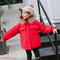冬季儿童羽绒服女童中长款2018新款加厚韩版男童宝宝女孩洋气外套秋冬新款