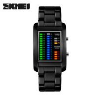 手表男士创意个性LED显示男学生时尚运动腕表男表