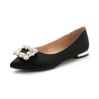 St&Sat/星期六商场同款沙丁布低跟单鞋女鞋SS73111762