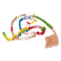 多米诺骨牌儿童3岁以上 多诺米骨牌积木木制机关玩具