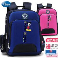 迪士尼米奇小学生书包男女孩韩版1-3-6年级简约减负护脊儿童