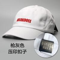 白色软顶鸭舌帽子男士字母刺绣棒球帽女士韩版春夏遮阳帽百搭 sharkboss (白色) 可调节