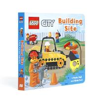【全店300减100】英文原版进口抽拉机关书 乐高建筑工地 Lego Building Site 低幼启蒙探索世界 3-