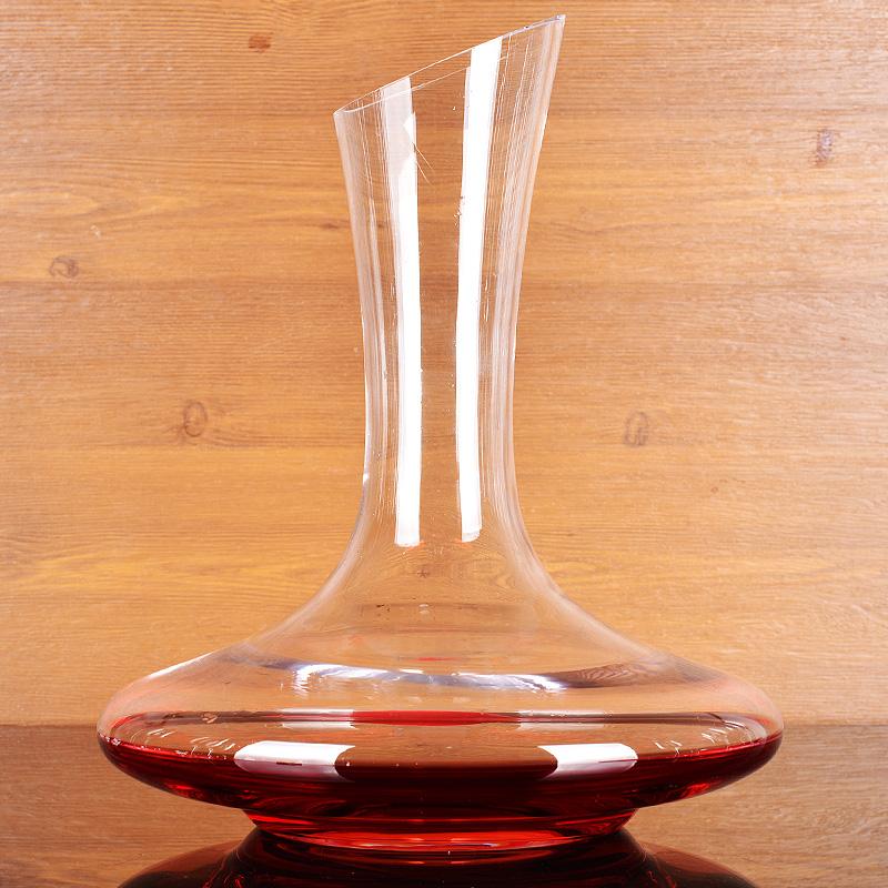 家用带把斜口酒壶酒樽酒瓶玻璃酒具红酒醒酒器套装