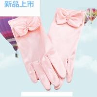 儿童礼服搭配手套春秋花童手套女童短款手套蝴蝶结手套