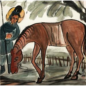 林风眠《伯乐选马》著名画家