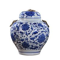 新房客厅家居工艺品摆件陶瓷器青花瓷大陶瓷罐储物罐