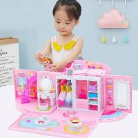 套装娃娃玩具女孩童爱莎公主城堡儿童生日礼物大礼盒别墅