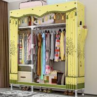 索尔诺简易衣柜钢管加粗加固布衣柜布艺简约现代经济型组装衣橱收纳柜子2566D