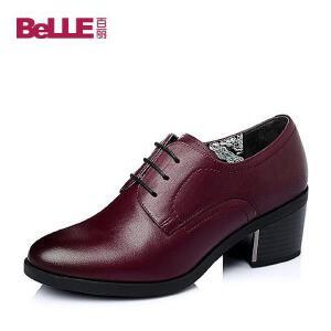 Belle/百丽春季专柜同款牛皮革女鞋BBQC3AM6