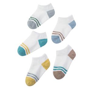 kk树秋款儿童袜子棉3-5-7-9岁宝宝袜子男童女童保暖透气吸汗船袜