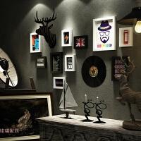 照片墙美式复古装饰相框墙创意组合相片墙简美客厅背景墙相框挂墙
