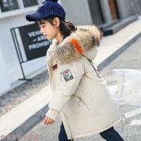 冬季儿童羽绒服女童中长款加厚外套女大童亲子装冬季2019新款韩版洋气秋冬新款