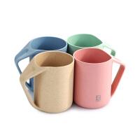 三利 创意情侣小麦漱口杯单只盒装 简约塑料牙刷杯刷牙杯牙缸洗漱杯子
