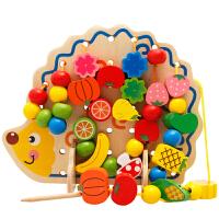 串珠玩具男孩女孩DIY早教手工材料亲子互动儿童益智玩具桶装字母数字串珠 (82件)