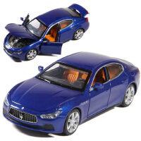 彩珀合金车模1:32玛莎拉蒂GT跑车赛车声光回力可开门儿童玩具车