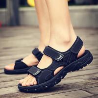 凉鞋男ins潮2020新款夏季韩版潮流男士软皮凉拖鞋运动休闲沙滩鞋