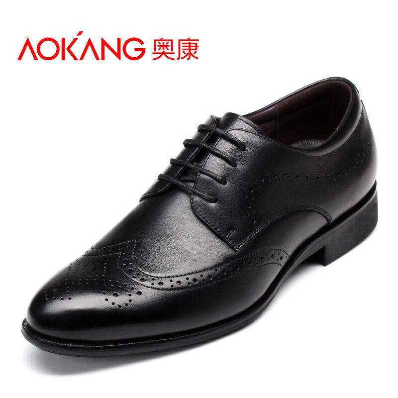 奥康男鞋 新款皮鞋男布洛克雕花男鞋男士皮鞋商务休闲鞋