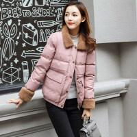仿羊羔毛小棉袄女短款2018冬季韩版百搭小个子棉衣学生冬天