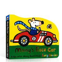 英文原版绘本 Maisy's Race Car小鼠波波的赛车 0-3-5岁低幼造型玩具纸板书 宝宝撕不烂 家长亲子互动
