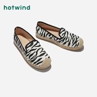 女士斑马纹休闲鞋H30W9116