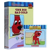 【全店300减100】大红狗Clifford big red dog box 10本书+CD英文原版绘本书50周年