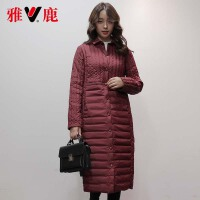 yaloo/雅鹿2017冬装新款韩版宽松女装羽绒服女士羽绒服
