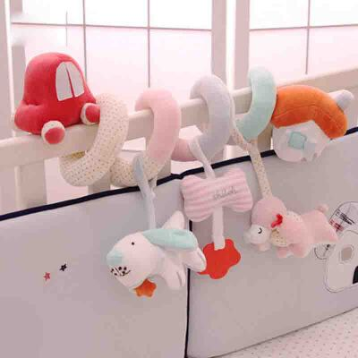 婴儿玩具床铃床挂车挂宝宝摇铃安抚床绕毛绒男女孩