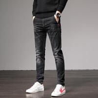 Lee Cooper新款时尚个性潮流韩版弹力修身小脚裤青年休闲男裤牛仔裤男