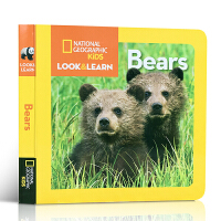 英文原版绘本 National Geographic Kids Look and Learn Bear 美国国家地理杂