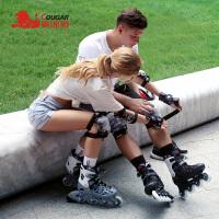 男女士旱冰鞋滑冰鞋 成年溜冰鞋直排轮滑鞋全套装可调