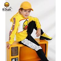 【4折价:247.6】B.duck小黄鸭童装 男童冬装套装 新款儿童加棉保暖卫衣两件套BF5081906