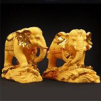 欧式大象家居装饰品摆件 装饰摆件工艺品礼品 开业乔迁新居婚庆创意 大象一对 净重7公斤