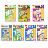 英文原版 美国加州教材练习册 技能铅笔刀系列 小学生六年级 Skill Sharpeners Grade 6 数学 拼