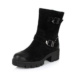 Teenmix/天美意专柜同款二层牛皮女靴6D160DZ5