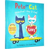 英文原版绘本 Pete the Cat: Valentine's Day Is Cool 皮特猫的情人节 吴敏兰推荐
