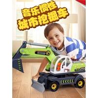 男孩宝宝大号惯性挖土汽车模型儿童挖掘机玩具推土车工程车