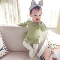 女婴儿童上衣服1个月男宝宝休闲T恤打底衫春秋季