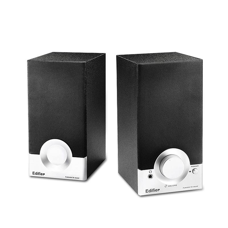 Edifier/漫步者 R18T 有源2.0家用台式小音箱多媒体台式电脑音响 音质出众 桌面小音箱 220V供电3.5接口
