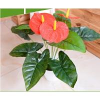 假花50厘米桌摆红掌仿真植物花盆栽盆景套装小型装饰花卉